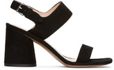 Marc Jacobs Black Suede Emilie Sandals