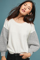 Anthropologie Blocked Balloon Pullover