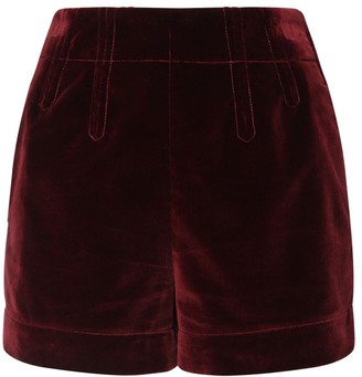 Etro High Waist Cotton Velvet Shorts