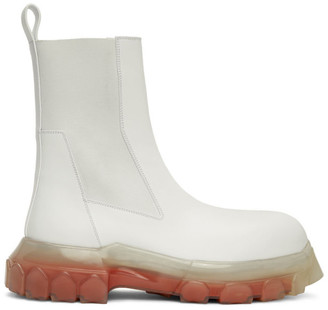 Rick Owens White Mega Bozo Tractor Chelsea Boots