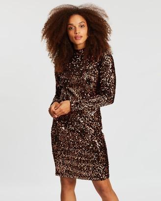 Wallis Velvet Sequin Swing Dress
