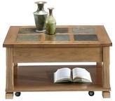 Progressive Rustic Ridge Coffee Table Lift - Top - Light Oak Veneer/Elm Furniture