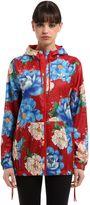Flower Printed Nylon Jacket