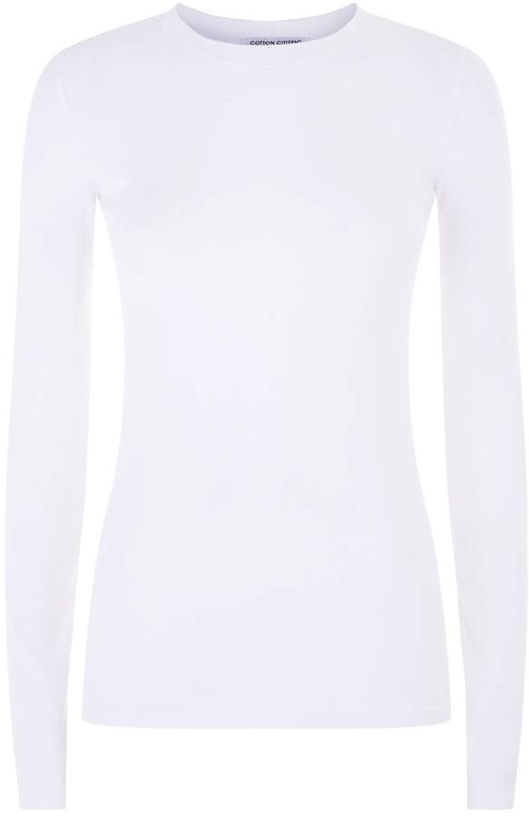 5fd0de3c3611 Cotton Ribbed Long Sleeve Tee - ShopStyle