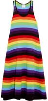Madeleine Thompson Claire Striped Cashmere Dress - medium