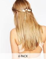 Asos Pack of 6 Mini Paper Rose Hair Clips