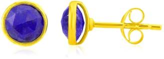 Lapis Auree Jewellery Savanne Gold Vermeil & Lazuli Stud Earrings