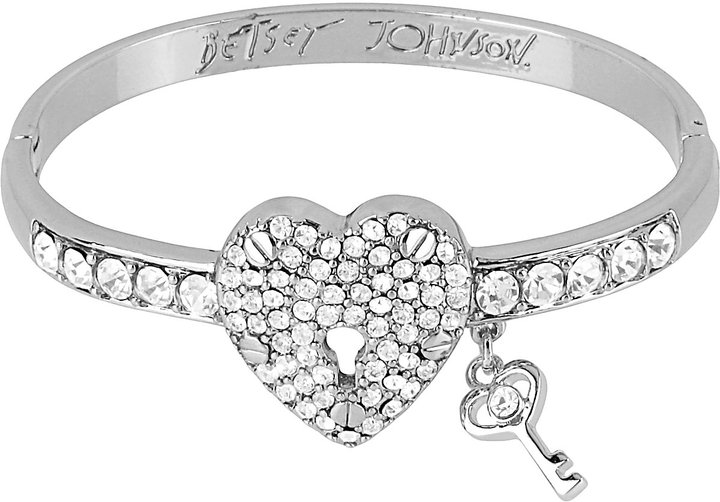 Betsey Johnson Iconic Heart Hinged Bangle