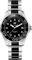Tag Heuer WAY131C.BA0913 aquaracer stainless steel ceramic and diamond watch