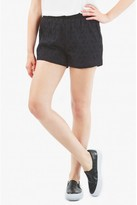 Select Fashion Fashion Womens Black Cut Work Shorts - size 14