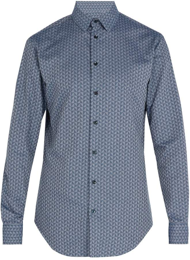 Giorgio Armani Triangle-print cotton shirt
