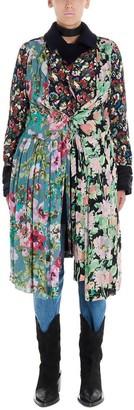 Junya Watanabe Belted Floral Patchwork Coat