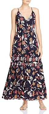 Dolan Annie Floral Print Tiered Maxi Dress