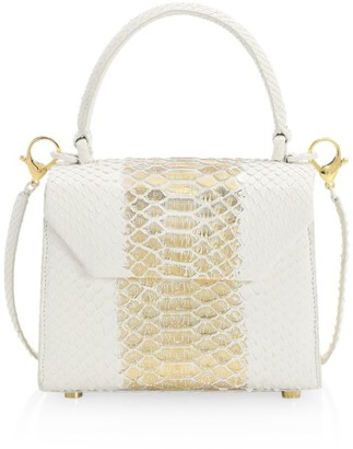 Nancy Gonzalez Mini Lily Python Top Handle Bag