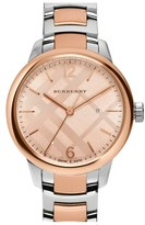 Burberry Check Stamped Bracelet Watch, 32mm