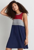 American Eagle Outfitters AE Colorblock Hi-Neck Shift Dress