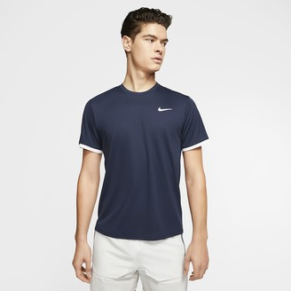 Nike Men's Short-Sleeve Tennis Top NikeCourt Dri-FIT