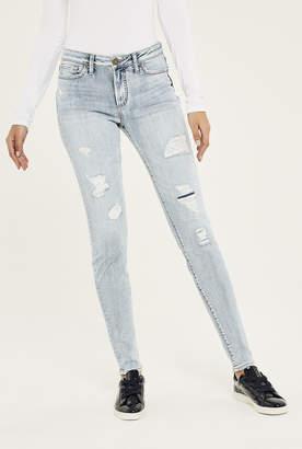 Silver Jeans Silver Mazy Super Skinny Jean In Light Denim