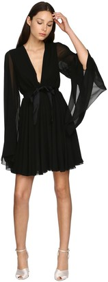 Giambattista Valli Sheer Silk Georgette Mini Dress