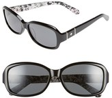 Kate Spade Women's Cheyenne 55Mm Polarized Sunglasses - Black/ Grey Polar