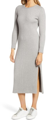 WAYF x BFF Hollie Long Sleeve Sweater Dress
