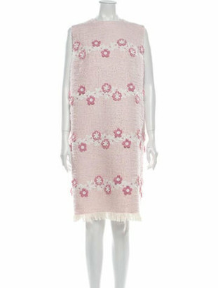 Andrew Gn Lace Pattern Knee-Length Dress w/ Tags Pink