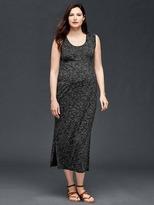Rolled sleeve maxi dress