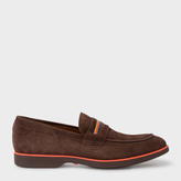 Paul Smith Men's Brown Suede 'Bly' Loafers