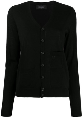 DSQUARED2 logo-embroidered V-neck cardigan