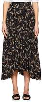 A.L.C. Women's Maya Pleated Palm-Leaf-Print Charmeuse Skirt