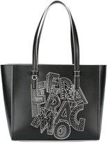 Salvatore Ferragamo printed tote bag - women - Leather - One Size