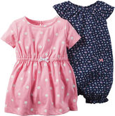 Carter's 2-pc. Short-Sleeve Romper and Dress Set - Baby Girls newborn-24m