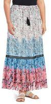 Context Plus Floral-Print Skirt