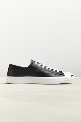 Converse Jack Purcell Leather Low Top Logo Sneaker
