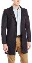 Nautica Men's 3 Button Wool Blend 37 Inch Topcoat