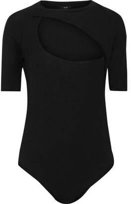 Alix Cutout Ribbed Modal-blend Bodysuit