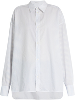 Raey Oversized striped cotton-poplin shirt