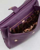 Dolce & Gabbana Miss Sicily Flap-Top Bag, Purple
