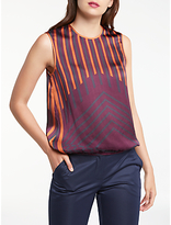 Max Studio Vertical Stripe Top, Claret