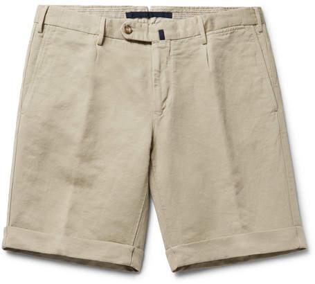Incotex Slim-Fit Linen And Cotton-Blend Shorts