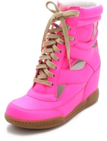 Thumbnail for your product : Marc by Marc Jacobs Neon Cutout Wedge Sneakers