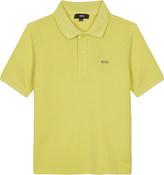 BOSS Square logo print cotton polo shirt 4-16 years