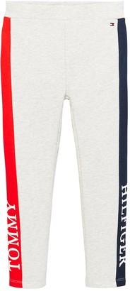 Tommy Hilfiger Girls Essential Logo Leggings - Grey Marl