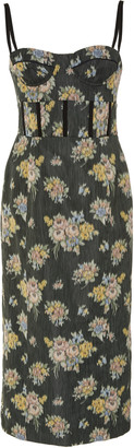 Brock Collection Floral-Print Silk-Georgette Midi Dress