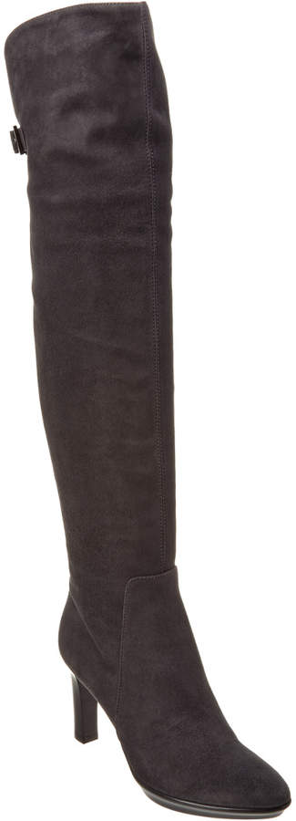 Aquatalia Raffaela Waterproof Suede Over-The-Knee Boot