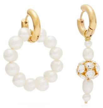 Timeless Pearly - Mismatched Freshwater Pearl Earrings - Womens - Pearl