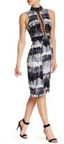 Nicole Miller Ladder Braid Silk Blend Dress