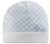 Gucci Infant Boy's Logo Knit Hat - Blue