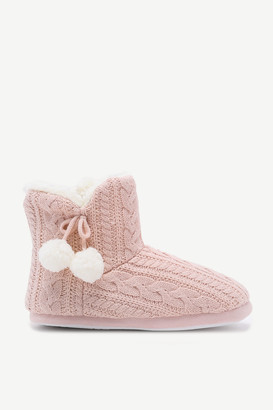 Ardene Cable Knit Bootie Slippers