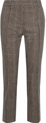 Vanessa Bruno Prince Of Wales Checked Woven Straight-leg Pants